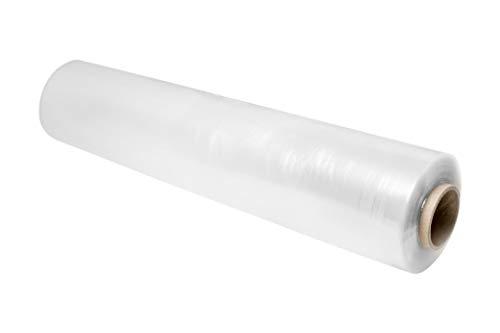 Film Transparente Para Embalar (1 UNIDAD) Rollo plastico transparente para embalaje industrial de 0,5 x 200m - Rollo Papel Film Estirable Manual y Elastico