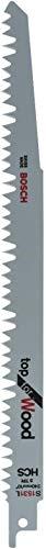 Bosch Professional Bosch 2 608 650 676 Hojas de Sierra Sable S 1531 L, Gris, Set de 5 Piezas