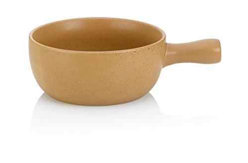 kela 66573 Davos - Fondue para Queso (cerámica), Color Beis