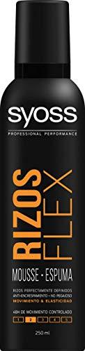 Syoss - Espuma Rizos Flex, paquete de 2x250 ml