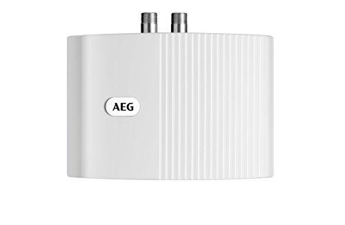 AEG 189554 MTH 350 - Calentador de agua de sistema abierto (tamaño pequeño, 3,5kW, 230 V), color blanco - [Importado de Alemania]