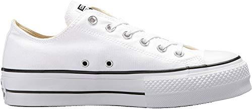 Converse Chuck Taylor CTAS Lift Ox Canvas, Zapatillas para Mujer, Blanco (White/Black/White 102), 36 EU