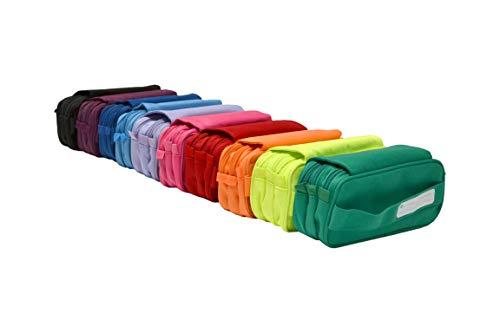 Fraga Colorline 58311 - Estuche con 3 Apartados con Cierres y Cremallera, 22 x 11 x 9 cm, Colores Surtidos