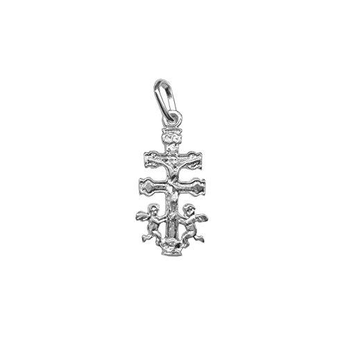 Cruz de Caravaca en plata de primera ley 925m - Angeles – Bendecidas y fabricadas en Caravaca - Diferentes tamaños (1.8)