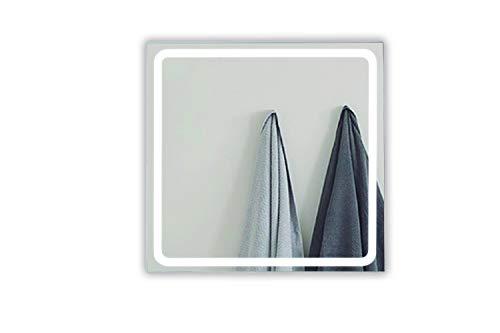 APLIKE BATHROOM LIGHTING Espejo baño con Luz 80x80cm + antivaho. 30 W. Espejo de Pared baño. [Clase de eficiencia energética A++], Iluminación LED, Moderno Led 744Lumenes, 30w 5700kluz Brillante.