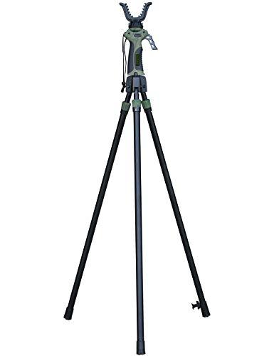 BENISPORT - Gen-4 Tripode de Nueva generacion tripode de Caza - Altura de extensión 165 cm - Seguro para Bloqueo de gatillo - Mango y Horquilla giratoria 360 Grados