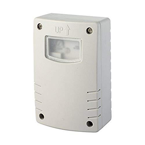 Electraline 58064 Interruptor crepuscular con programación, Nocturna, Temporizador, para Uso Exterior IP44, Blanco