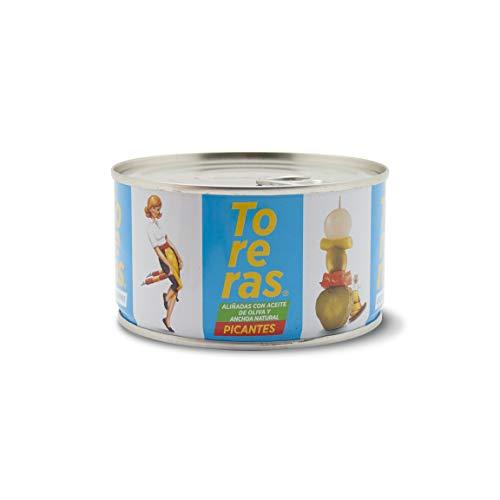 Banderillas Toreras picantes aliñadas con anchoa natural y aceite de oliva. Pack 2: Banderillas de aceituna, cebolla, pepinillo, pimiento. Banderillas originales Toreras. Encurtidos españoles.