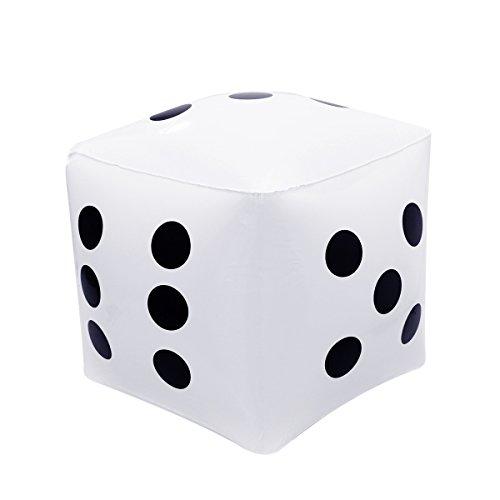 NUOLUX Dados inflables para la Piscina Fiesta de Juguete Favors tamaño 32x32cm Color Blanco