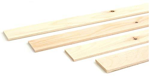 Wodewa - Listón de madera para pared (1 m, 30 x 4 mm), diseño de pino