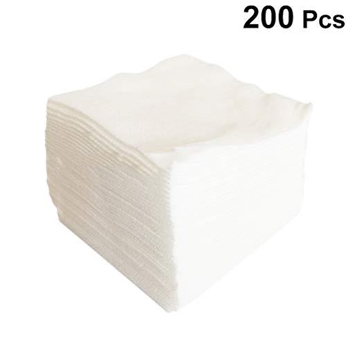Healifty gasas estériles esponjas de gasa gasas no tejidas para el cuidado de heridas suministros médicos de primeros auxilios 200 piezas