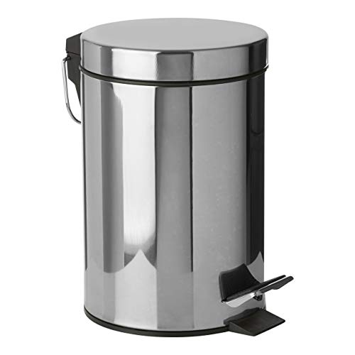 Premier Housewares 3 L Cubo de Basura, Metal, Centimeters