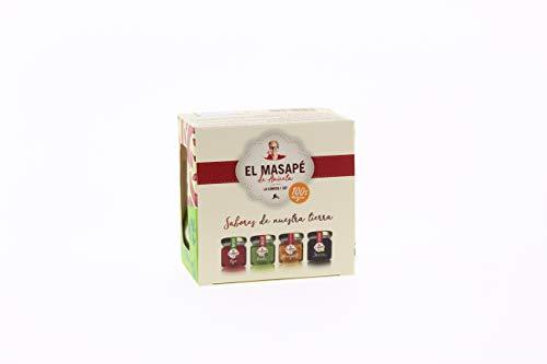 Mini Pack 4x40gr El Masapé. Sabores de Nuestra tierra. Almogrote, Savia de Palma, Mojo Rojo, Mojo Verde