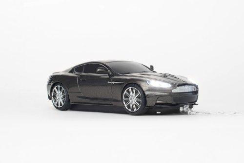 Click Car Mouse Aston Martin DBS - Ratón (USB, Óptico, Oficina, Plata, 1,5m, Cable)