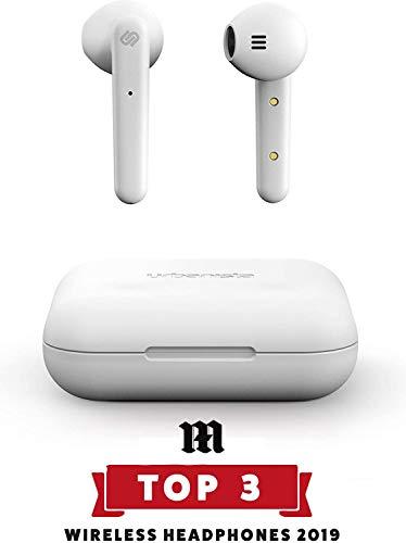 Urbanista Stockholm Auriculares Verdaderamente Inalámbricos 14H de Duración Bluetooth 5.0 con Estuche de Carga, Controles Táctiles y Cascos con Micro Dual Compatible con Android e iOS - Blanco