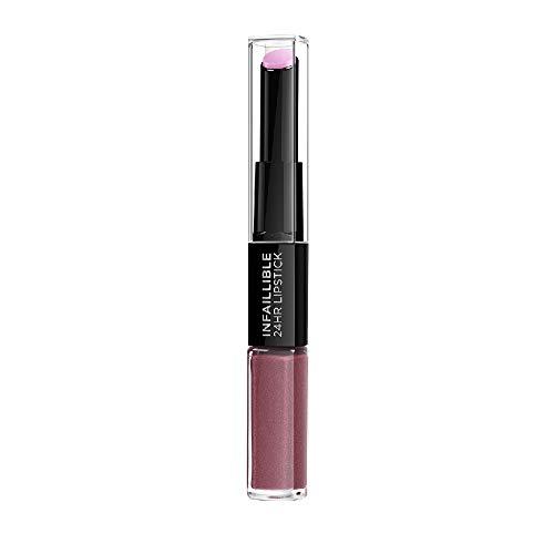 L'Oréal Paris Pintalabios 24H Permanente, Color Morado 209 Violet Parfait
