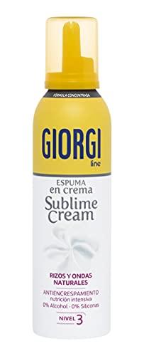 Giorgi Line - Sublime Cream, Espuma en Crema Rizos Naturales sin Encrespamiento, Fórmula Concentrada 0% Alcohol 0% Siliconas, Fijación 3-150 ml