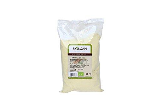 Bionsan Harina de Soja Ecológica No Tostada - 4 Bolsas de 500 gr - Total: 2000 gr
