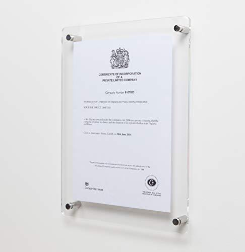 Scribble - Marco de fotos (270 x 358 mm, para foto de tamaño A4), transparente