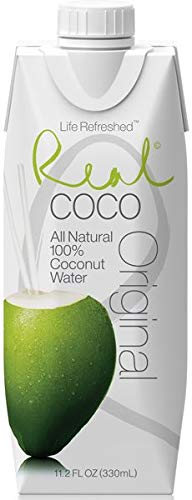 Real Coco Original 100% Natural 330ml (1 caja de 12 unidades)
