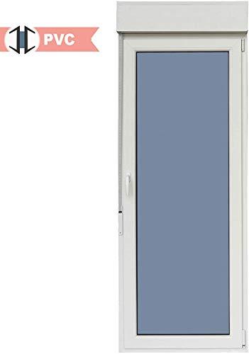 Balconera PVC Practicable Oscilobatiente 1 hoja con apertura a Derecha 800 ancho x 2185 alto con persiana