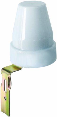 Electraline 58060 - Interruptor crepuscular para utilizo exterior IP44, color blanco