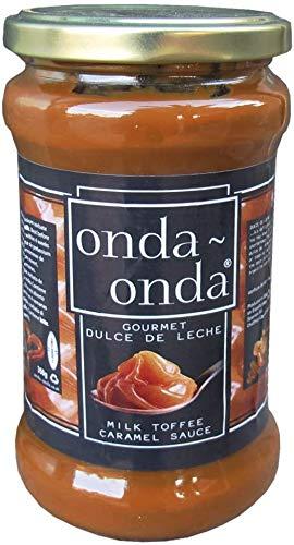 Dulce de Leche Gourmet Onda Onda - Dulce de leche premium - Relleno para tartas, dulces, pies - Ideal para panqueues o waffles - Perfecto para usar con helado, avena, cereales - 350g