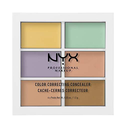 NYX Professional Makeup Paleta de correctores Colour Correcting Palette, 6 colores cremosos y combinables