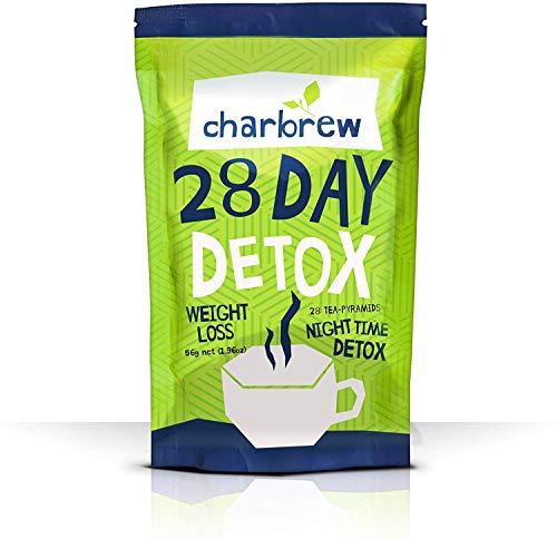 Té Detox Nocturno de Charbrew Té Para Bajar de Peso para 28 Días (Sin Efectos Laxativos)