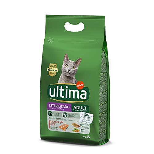 ULTIMA - Alimento Para Gatos Adultos Esterilizados Rico En Salmón Bolsa 3 Kg