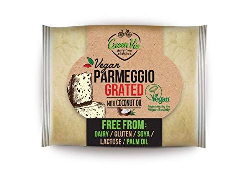 GreenVie Queso Vegan Parmeggio con parmesano Rallado Vegano 100g (Pack de 1)
