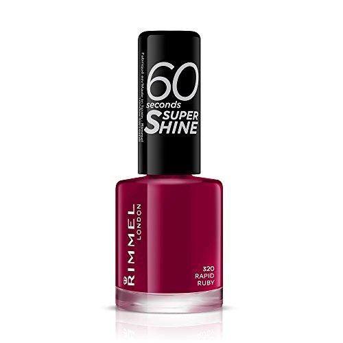 Rimmel London 60 Seconds Super Shine Esmalte de Uñas, 320 - Rapid Ruby