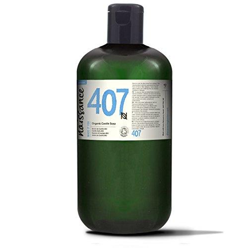 Naissance Jabón natural de Castilla BIO líquido 1 Litro – Vegano, sin perfumes ni sulfatos.