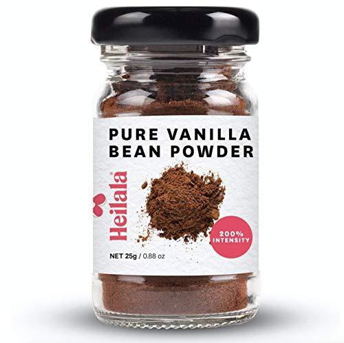 Heilala Vanilla Polvo puro de vainilla planta - vainas planta gourmet grown En Tonga, cosechadas a mano, sin azúcar, 25g (Pure Vanilla Bean Powder)