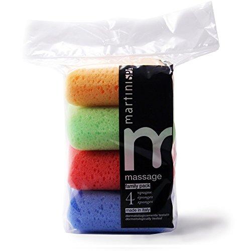 MartiniSPA Massage Color - Esponjas cuadradas blandas, formato familiar, 37 g
