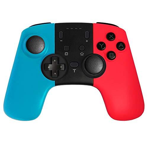 MISSJJ Mando Inalámbrico, Gamepad Wireless Pro Controller, Controlador Bluetooth con la Función de Turbo y Dual Motor