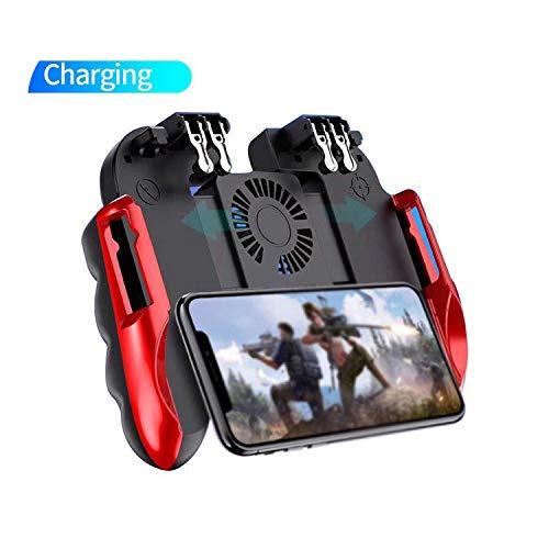 Game Controller, H9 Cooling Fan Game Controller Gamepad Joystick Six Finger Trigger Shooting Fire Mobile Para Playstation Para Android Para IOS-Stock Limitado-