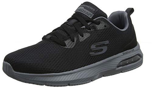 Skechers Dyna-Air, Zapatillas para Hombre, Negro (Black Mesh/Charcoal Trim Bkcc), 47.5 EU