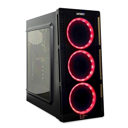 NITROPC - PC Gamer Nitro AMZ 2020 *Rebajas* (CPU Ryzen 4 x 3,70 GHz, T. Gráfica 2 GB, SSD + 1 TB, Ram 16 GB) + WiFi de Regalo. pc Gamer, pc Gaming, Ordenador para Juegos (actualizado Junio 2020)