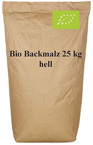 Harina de malta blanca - Malta de cebada organica de calidad rica en enzimas activas - Malta de cebada para pan y bollería - Contenido: 25kg de harina de malta …
