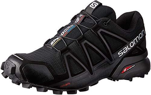 Salomon Speedcross 4 W, Zapatillas de trail running para Mujer, Negro (Black/Black/BLACK METALLIC), 38 EU