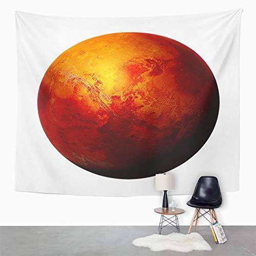 Y·JIANG - Tapiz vintage, diseño de Planeta Roja Marte del Sistema Solar, decoración para el hogar, dormitorio, manta para colgar en la pared para sala de estar, dormitorio, 60 x 80 pulgadas