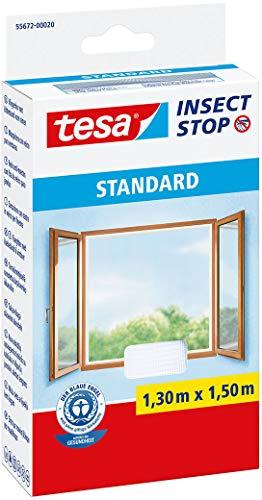 tesa Insect Stop Malla Mosquitera STANDARD para Ventanas , Mosquitera Autoadhesiva , Recortable al Tamaño Deseado , Blanca, 130 cm x 150 cm