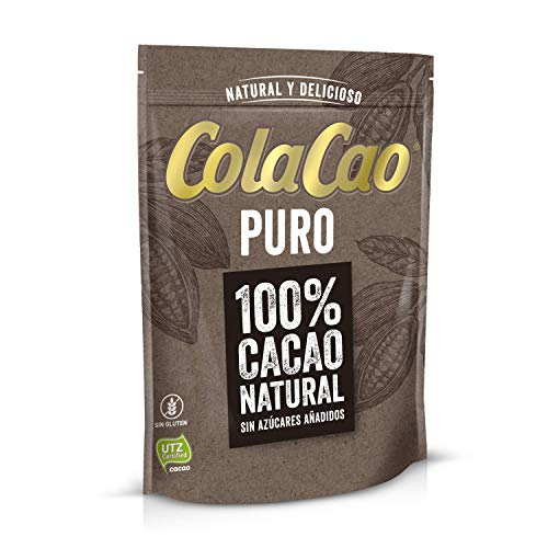 ColaCao Puro:100% Cacao Natural y Sin Aditivos - 250g