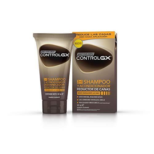 Just For Men Control GX Champú + Acondicionador. Reduce Las Canas Gradualmente. Resultado Natural. 147ml