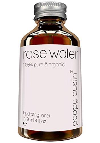 Agua de Rosa Pura Tónico Facial - Vegano, Cruelty-Free, Tónico Para la Piel Orgánico - Fabricado a Mano y de Origen Responsable - La Mejor, Triple Purificada, Agua de Rosas Marroquí, 120ml