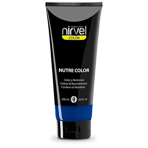 Nirvel NUTRE COLOR Azul 200 mL Mascarilla Profesional - Coloración temporal - Nutrición y brillo