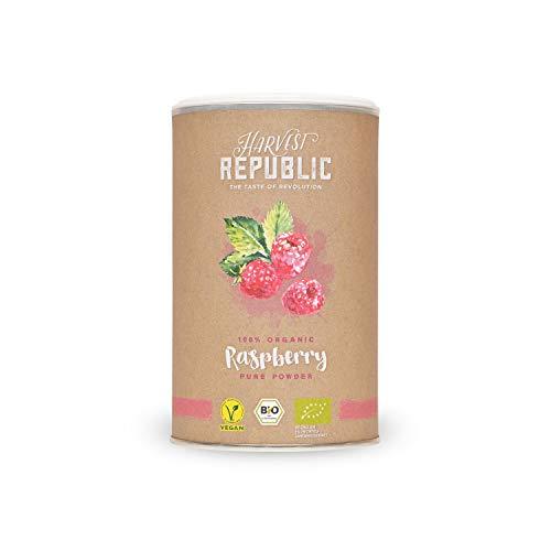 Harvest Republic bio de fruta polvo Frambuesa, 125g, para superalimentos Batidos y batidos, Organic Food, Vegano)