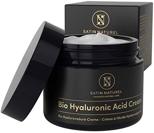 GANADOR 2020* Crema Facial de Acido Hialuronico Puro ORG�NICA 50 ml - Crema Antiarrugas para Mujer con Aloe Vera y Vitamina E - Usar con un Serum Facial - Cremas Faciales para Contorno de Ojos