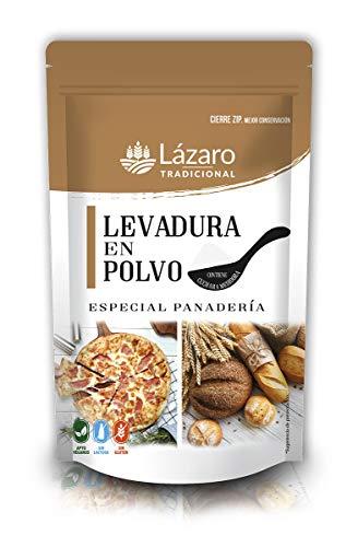Lázaro Levadura Especial Panadería 100g, Bolsa con cierre ZIP para su perfecta conservación, contiene cucharilla medidora.